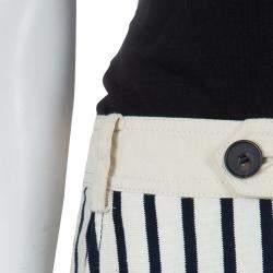 10 Crosby Derek Lam Striped Cotton Trousers S
