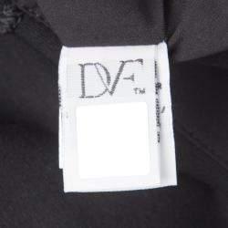 Diane Von Furstenberg Black Jersey Evita Sleeveless Shift Dress M