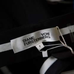 Diane Von Furstenberg Black Wool Cigarette Pants M