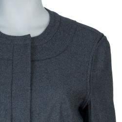 Diane von Furstenberg Grey Maya Peplum Wool Blazer L