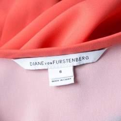 Diane Von Furstenberg Hot Spice Pink Drop Waist Tara Dress M