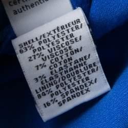 Diane Von Furstenberg Blue Sleeveless Fitted Megan Dress XL