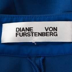 Diane von Furstenberg Blue Stretch Knit Genesis Pants M