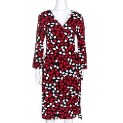 Diane von Fursternberg Multicolor Printed New Julian Two Wrap Dress XL