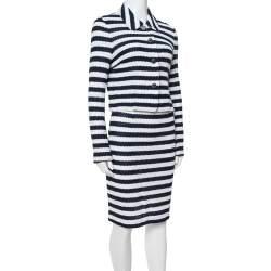 Diane von Furstenberg Navy Blue Walda/Lacie Skirt & Jacket Set S