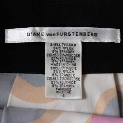 Diane Von Furstenberg Multicolor Knit Sleeveless Payne Dress S