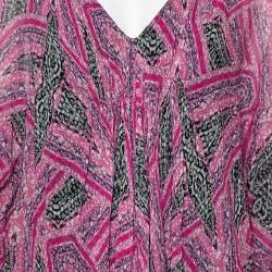Diane Von Furstenberg Pink Printed Silk Fleurette Mini Dress XS