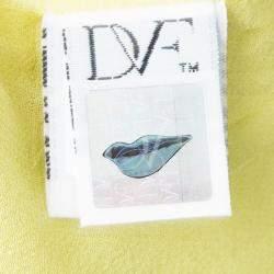 Diane Von Furstenberg Yellow Sleeveless Drop Waist Gagon Dress S