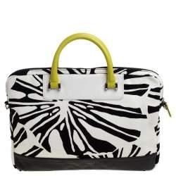 Diane Von Furstenberg Multicolor Printed Canvas and Leather Laptop Bag
