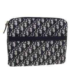 Dior Blue Oblique Canvas Travel Kit Pouch