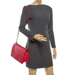 Dior Red Leather Large Diorama Flap Shoulder bag