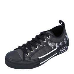 Dior Black B23 Low Top Canvas Oblique Sneakers Size EU 35