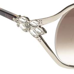 Dior Silver/Brown Gradient M88JS Diorose Oversize Sunglasses