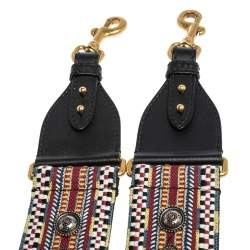 Dior Multicolor Studded Canvas and Leather Bohemian Inspired Shoulder Strap