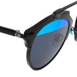Dior Black/Half Mirror Blue DiorSoReal Sunglasses