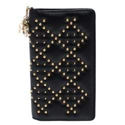Dior Black Leather Studded iPhone 7 Plus Cover