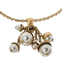 Dior Mise En Dior Charm Gold Tone Bracelet