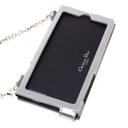 Dior Silver Canngae Patent Leather Diorama iPhone 6/7 Case On Chain