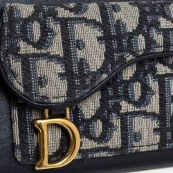 Dior Blue Oblique Jacquard Canvas and Leather iPhone XS Max Case