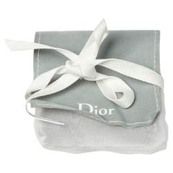 Dior Tribales Faux Pearl Gold Tone Stud Earrings