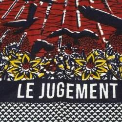 Dior Multicolor Tarot Le Jugement Cotton Square Scarf