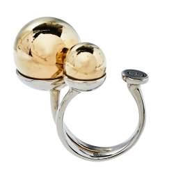 Dior Two Tone Metal UltraDior Ring M