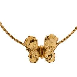 Dior Butterfly Charm Gold Tone Bracelet