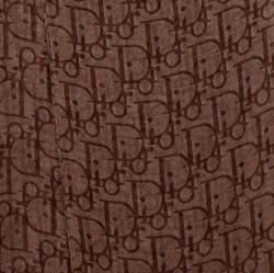 Dior Brown Oblique Print Sheer Silk Stole