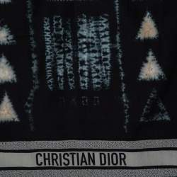 Dior Black Tie Dior Cotton & Silk Scarf