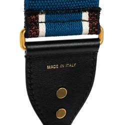 Dior Multicolor Logo Canvas and Leather Shoulder Bag Strap