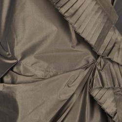 Dior Boutique Brown Pleated Ruffle Detail Sleeveless Tiered Evening Gown S