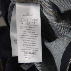 Dior Indigo Dark Wash Denim Bee Embellished Back Tie Detail Dress M