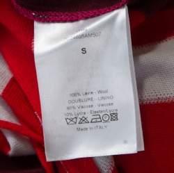 Dior Multicolor Geometric Pattern Wool One Shoulder Mini Dress S