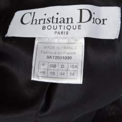 Dior Boutique Black Wool Ruffled Lace Collar and Cuff Detail Jacket XL