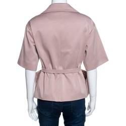 Christian Dior Blush Pink Silk Belted Top M