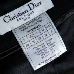 Christian Dior Boutique Black Crepe Flared Trousers M