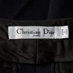 Christian Dior Navy Blue Wool Paneled Coat & Tapered leg Trousers Set M