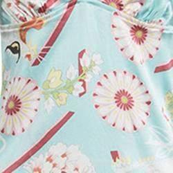 Dior Multicolor Floral Printed Silk Babydoll Dress L