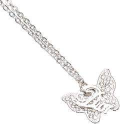 Dior Butterfly Logo Pendant Necklace