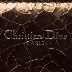 Dior Gold/Silver Ceramic Effect Leather Medium Diorever Bag