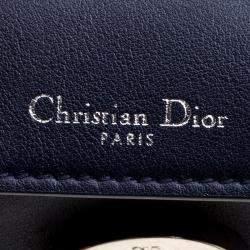 Dior Dark Blue Leather Micro Be Dior Flap Bag