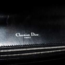 Dior Green Printed Leather Large Diorama Stitch Detail Flap Shoulder bag