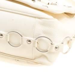 Dior Cream Leather Croisette Hobo