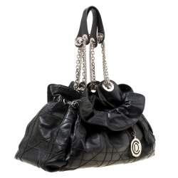 Dior Black Cannage Leather Le Trente Hobo