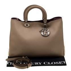 Dior Beige Leather Large Diorissimo Shopper Tote