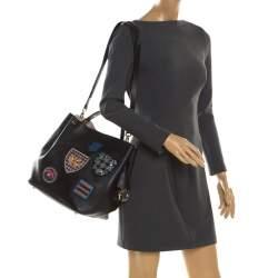 Dior Black Leather Diorific Patch Bucket Bag
