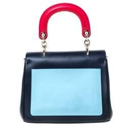 Dior Blue/Red Leather Be Dior Shoulder Bag