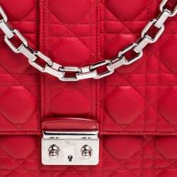 Dior Red Cannage Quilted Leather Large Miss Dior Flap Bag