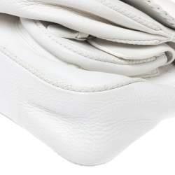 Dior White Leather Gaucho Alpine Saddle Bag