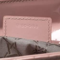 Dior Light Pink Cannage Patent Leather Large Lady Dior Tote